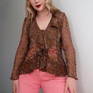 Vintage 90's J. Jill silk blouse